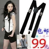 Elastic adjustable male elastic suspenders basic women's suspenders