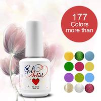 12pcs  DHL Free Shipping Gelartist  Uv Nail Gel Polish Nail Polish set (1 base+10colors+1 top ) UV VARNISHES GEL