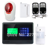 P424 M2BX Wireless GSM SMS TEXT Touch Keypad Home House Alarm System Wireless Outdoor Flash Siren Strobe Horn