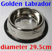 For Golden Labrador stainless steel dog bowl water bowl feeder food bowl  Medium Large dogs