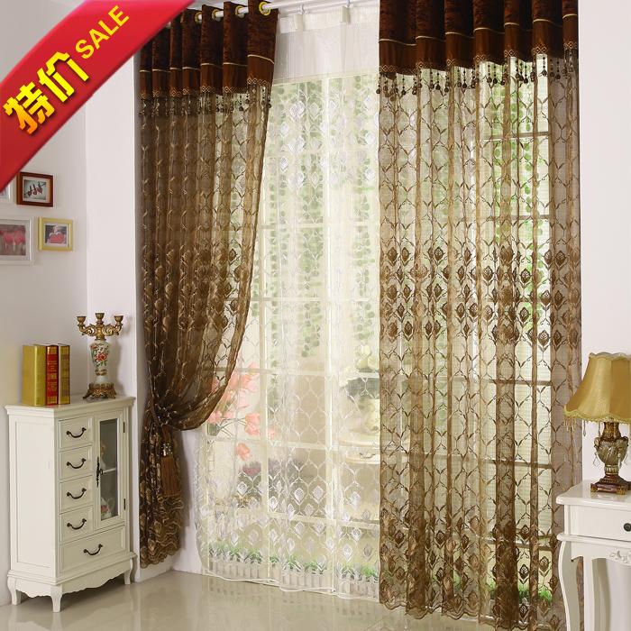 Modern breve qualidade da moda cortina de fios bordado qualidade pano shalian varanda de triagem janela personalizar(China (Mainland))