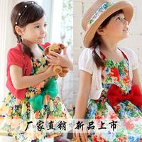 2737 2014 short-sleeve summer female child small cardigan child coat