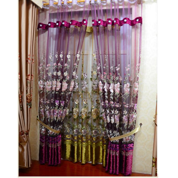 Moda nova cortina clássica produtos acabados precisão luxo luxo bordado cortina shalian(China (Mainland))