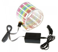 New arrival  45CM*11CM Colourful Flash Car Sticker Music Rhythm LED EL Light Lamp Sound Music Activated Equalizer
