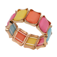 Colorful gems jewelry rhinestone women bracelets bangles spring 2014 new fashion 140116 free shipping