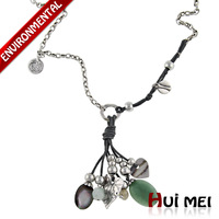 Free Shipping 2014 New Fashion Women Silver Plated Trendy  Jewelry Long Chunky Pendants  Link Chain Statement Necklaces Jewelry