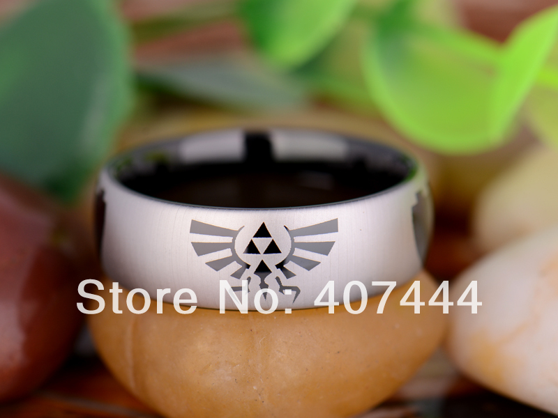 Free Shipping Hot Sales 8MM Width Shiny Silver Color Domed Custom Ring Blank Ring New Men's Fashion Tungsten Wedding Ring