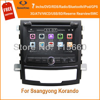Car Head Deck Unit Sat Navi DVD Player for Ssangyong Korando 2011-2013 / New Actyon with GPS Navigation Radio ATV Stereo System