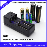 18650 14500 CR123A Li-ion AA AAA Universal Rechargeable Battery Smart Charger 1 piece/lot Free Shipping