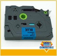 1/2'x23′ black on blue tape 12mm TZ531 TZ-531 TZe531 Compatible brother P-touch TZ Tze label tape ribbon cassette