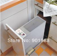 Home kitchen ware stainless steel 16kgs kitchen cabinet automatic rice storage bin rice box rice storage box