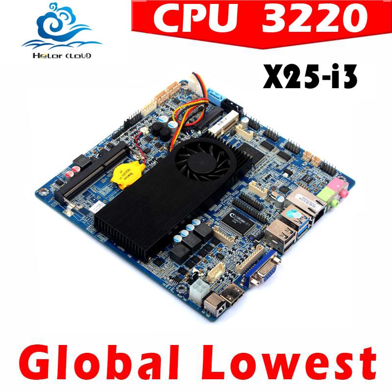 server motherboard thin mini itx motherboard htpc can run Linux/Ubuntu/window 7(China (Mainland))