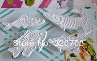 4PCS/SET Fish Shape Food Grade Plastic Cookie Cutter Cake Decorating Bakeware
