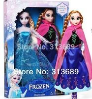 1404z Retail frozen doll princesses 2014 new Anna Elsa 11.5 inch baby doll action figures frozen dolls toys 2 pcs set 3825415513
