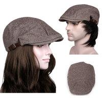 Spring 2014 New Arrival Cabbie Newsboy Flat Peaked Hat Mens Women Vintage Beret  Khaki Cap