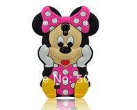 Free Shipping 3D Cartoon BP Minnie Mickey Duck Winnie Pig Chipmunk Silicone Back Cover Case For Samsung Galaxy S4 I9500