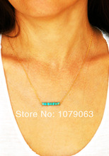 turquoise gold necklace promotion