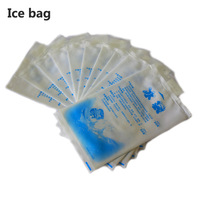 10pcs/lot set High quality 400ML thicken nylon Gel Ice Pack Cooler bag for food storage picnic sport