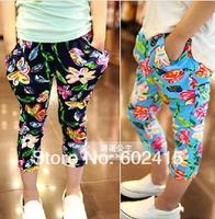 5pcs Children girl's summer colorful flower pant legging Harem Pants ninth pants e816