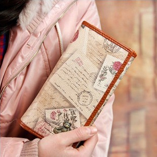 2014 new fashion wallet PU leather Japan vintage multilayer Ladies teddy Bear long fold wallet women clutch purse 3 BQQ063(China (Mainland))