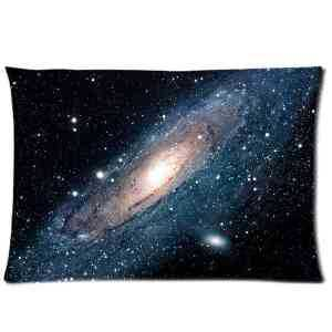 """Custom Galaxy Space Soft Pillowcase Covers Standard Size 20""""x30"""" Two Side Cushion cases(China (Mainland))"""