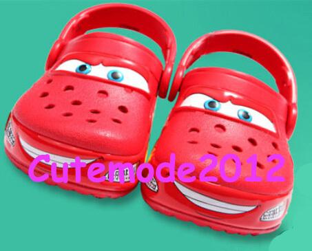 2014 Brand New Kids Light ROBO Shark Clog Mc queen Cars Lights Sandal Garden shoes TX412 C8-J2(China (Mainland))