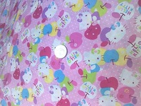 CF1 Lovely Hello kitty apple cotton fabric for pajamas pillowslip quilt yard cloth bedding