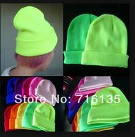 21 Colors! Free shipping 250PCS/Lot 2013 Neon Knitted Men's Winter Hat Autumn Sport Beanie UNISEX women's Warm Casual Cap