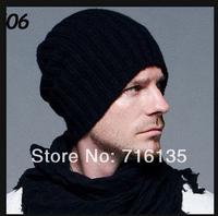 Free shipping(150pcs/lot)Hip-Hop Knitted Long Beanie women men hat winter cap / Acrylic Ski Warm Hat Skull Cap Multi Color