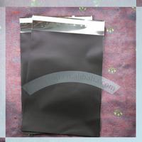 Black foil shipping envelope C6 114x162mm black mailing bag chorme bag poly bag courier bag