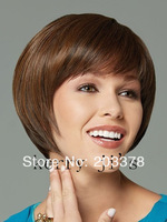 Beautiful BOB style Light Brown straight Synthetic Hair Wig(Free Shipping)