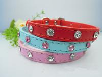 Free Shipping Wholesale(10pcs/lot) Belt Drill Pet Collars Diamond Agio Pet Products