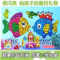 Child diamond painting child diy crystal mosaic sticker 26x19cm 5pcs/lot free shipping