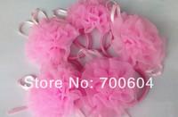 Sale New 2014 Kids Children cabelo felt circles Pink princess tiara Flower Elastic HairBand elastics headband Hair Accessories