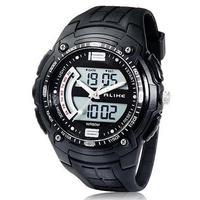 Sport Brand Alike AK1280 Multifunctional 50 m Waterproof Analog & Digital Display Summer Sports Diving man Watch (Black)