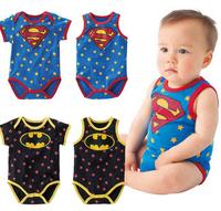 new 2014 baby & kids superman batman baby short rompers 4 styles newborn macacoes de bebe free shipping