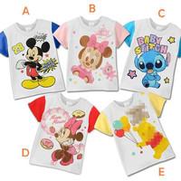 Min order 2pcs Baby Girls and Boys Summer short-sleeved T-shirt children's clothing retail Mickey Minnie cartoon