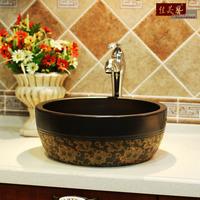 Thickening counter basin vintage bathroom wash basin antique wash basin round ceramic