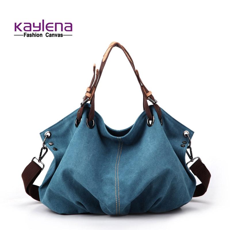 Fashion canvas bag female one shoulder handbag cross-body bag multifunctional trend k1518(China (Mainland))