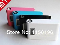 Digital Travel Power Bank With Screen Light Function 12000mAh Portable Emergency External Battery Pack Powerbank 913 30pcs/lot