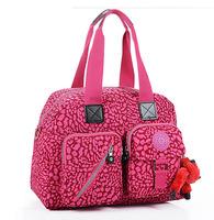 KP-057 New arrival 2014 hot nylon two-ways handbag with monkey hanger decoration-free shipping
