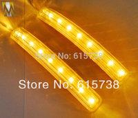 2 pcs * 9 LED Car Soft Turn Light 12V Rearview Mirror Lights AMBER BLUE Auto Side Door Mirror Soft Turn Signal Light