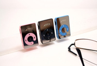 Wholesale 50pcs/lot !Newest Mini Sport Mirror clip MP3 Player 6 Colors Support 1-8GB micro SD card Can mix colors Free shipping