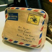 Sweet lolita princess Korea stationery vintage envelope faux leather camera bag camera bag small bag storage bag young girl