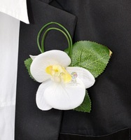 Handmade artificial flower wedding flower groom corsages phalaenopsis