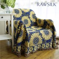 100% cotton sofa cloth fashion woolen blanket casual blanket sofa cover dust cover air cover fabric