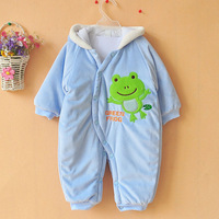 Free shipping! baby thick cotton rompers cartoon boy/girl jump suit winter infant garment Wholesale And Retail