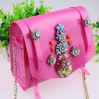 2014 New Summer Shoulder Bag Hot Sale PVC Candy Color Luxury Brand Shourouk Bag Hot For Women