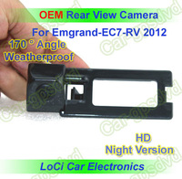 Free shipping! HD Rear View Geely Emgrand EC7-RV 2012 CCD night vision car reverse camera auto license plate light camera