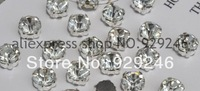 free shipping 100pcs/lot 8mm SS38 round clear crystal claw rhinestone loose pieces DIY wedding hair band garment costume sewing